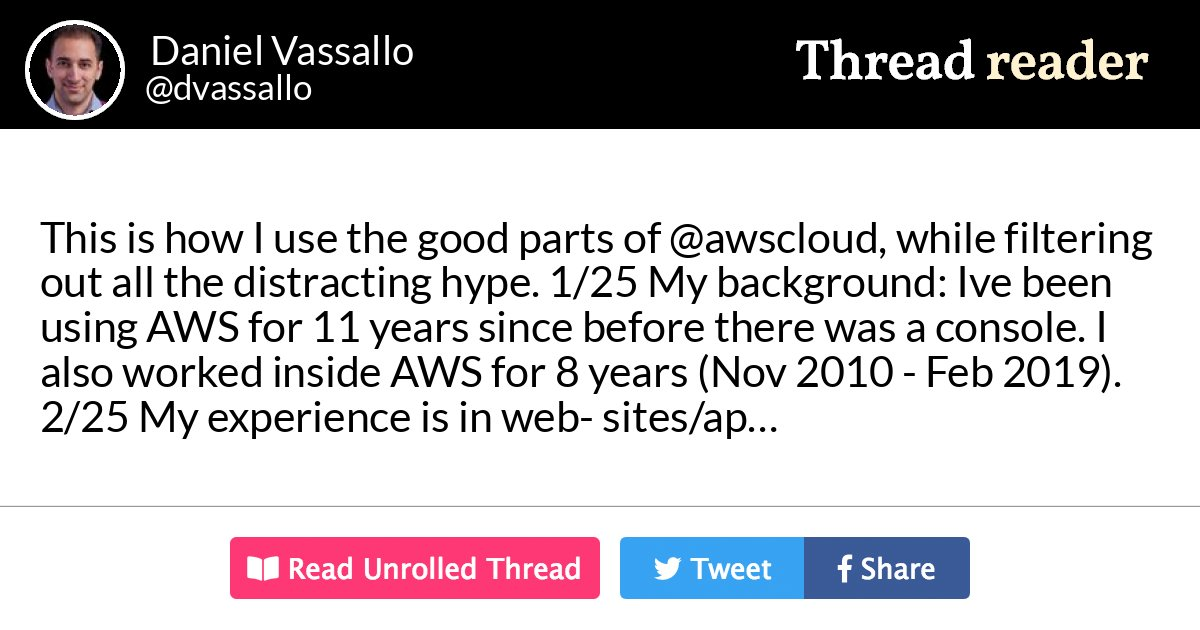 This is how I use the good parts of AWS cloud, while filtering out all the distracting hype.